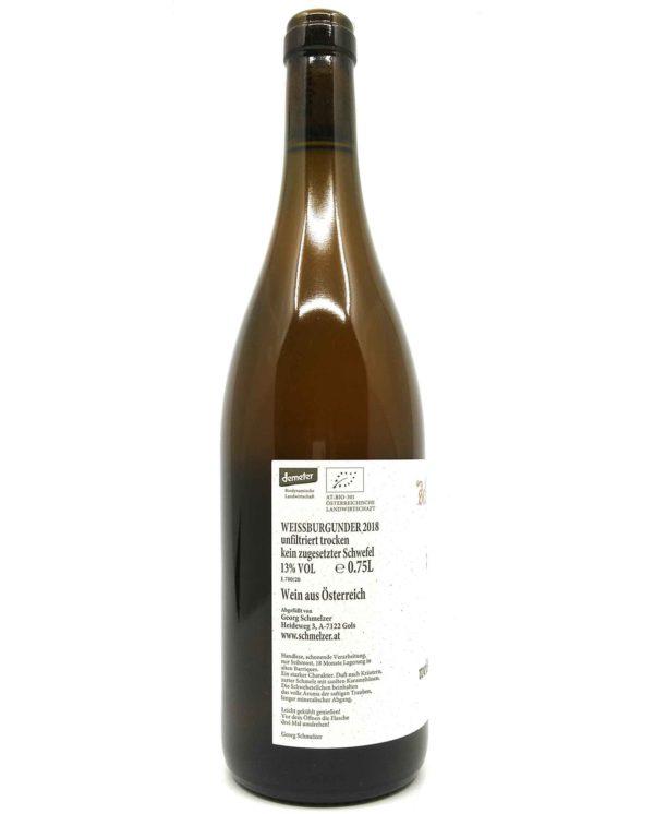 schmelzer weisßburgunder bottle side 2