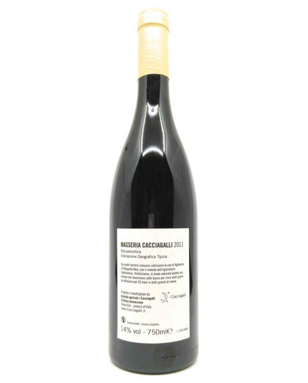 Cacciagalli Masseria 2011 back label