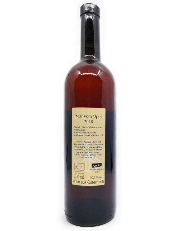 Muster Rosé vom Opok back label